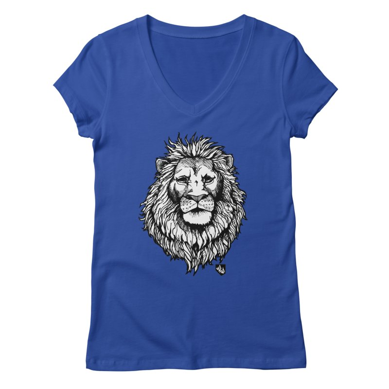 Noble Lion Women's Regular V-Neck by Red Rust Rum - Shop