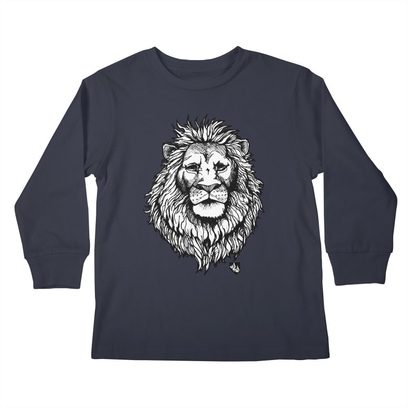 Noble Lion Kids Longsleeve T-Shirt by Red Rust Rum - Shop