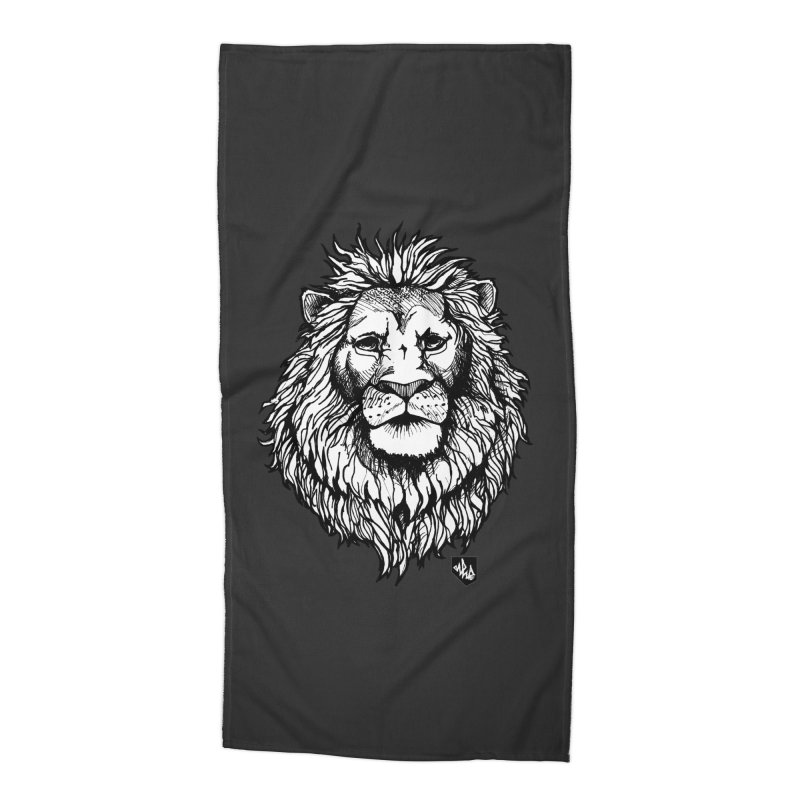 Noble Lion Accessories Beach Towel by Red Rust Rum - Shop