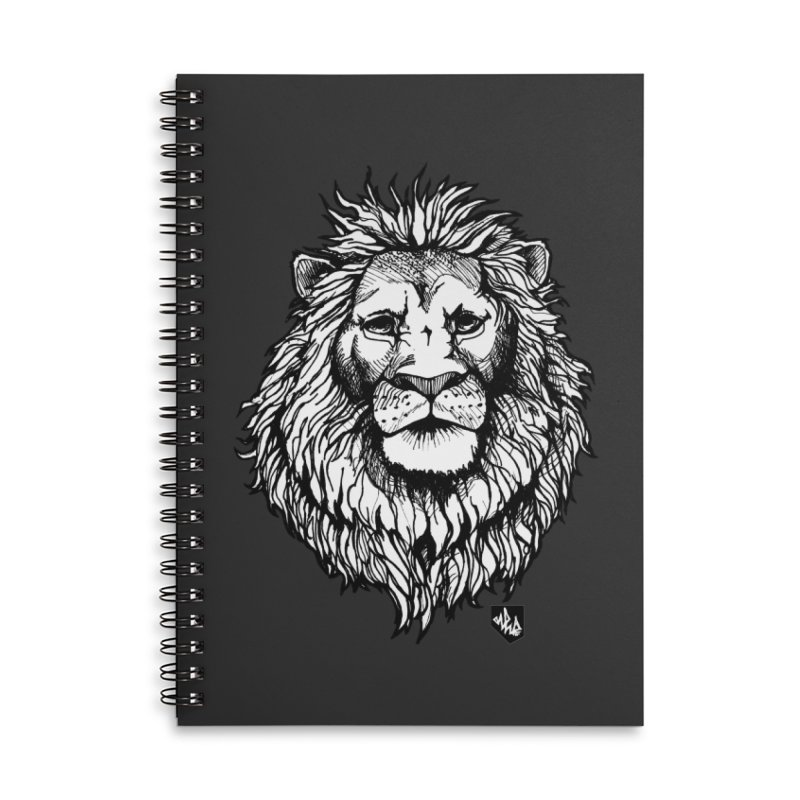 Noble Lion Accessories Lined Spiral Notebook by Red Rust Rum - Shop