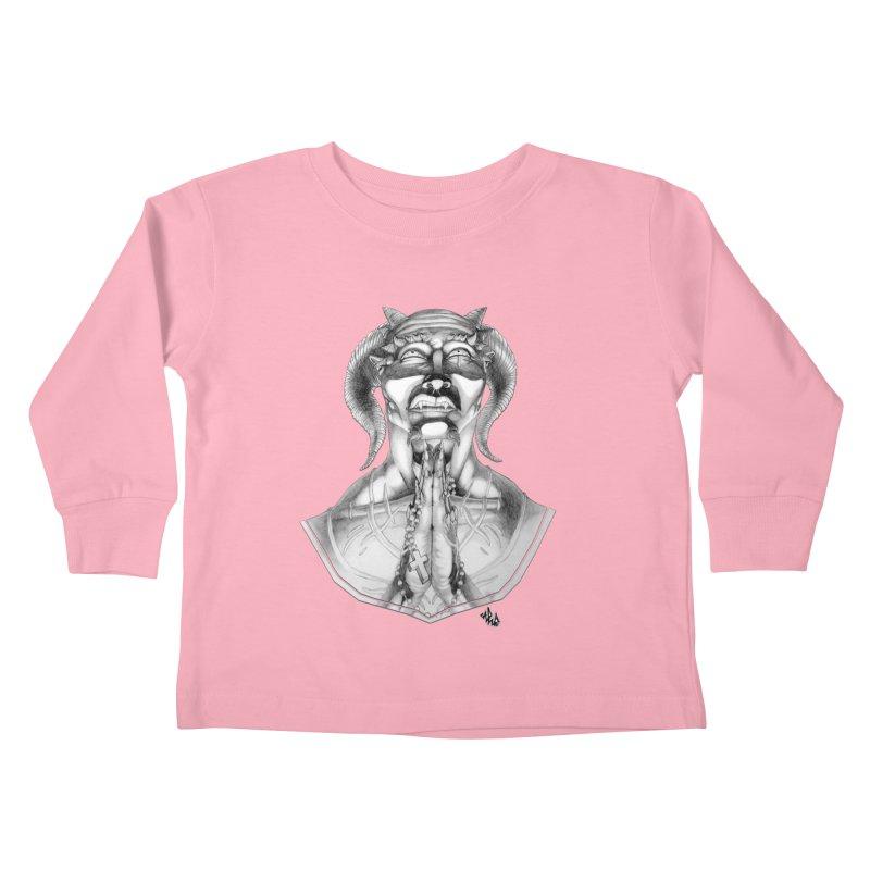 Prayer Kids Toddler Longsleeve T-Shirt by Red Rust Rum - Shop