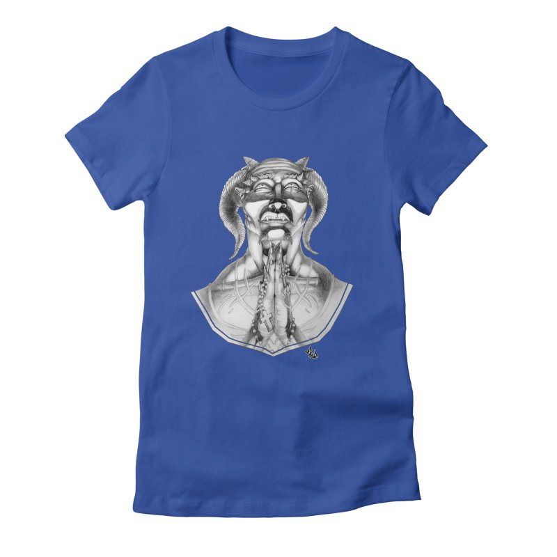 Prayer Women's Fitted T-Shirt by Red Rust Rum - Shop