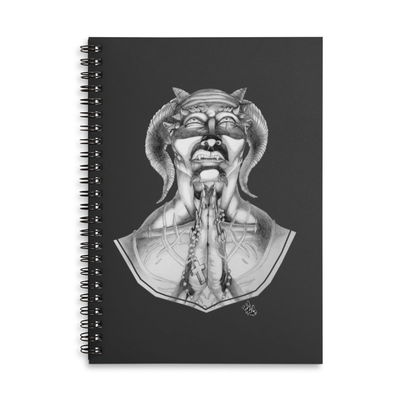 Prayer Accessories Lined Spiral Notebook by Red Rust Rum - Shop