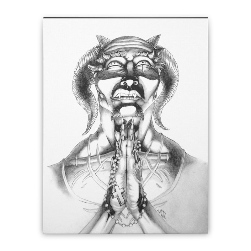 Prayer Home Stretched Canvas by Red Rust Rum - Shop