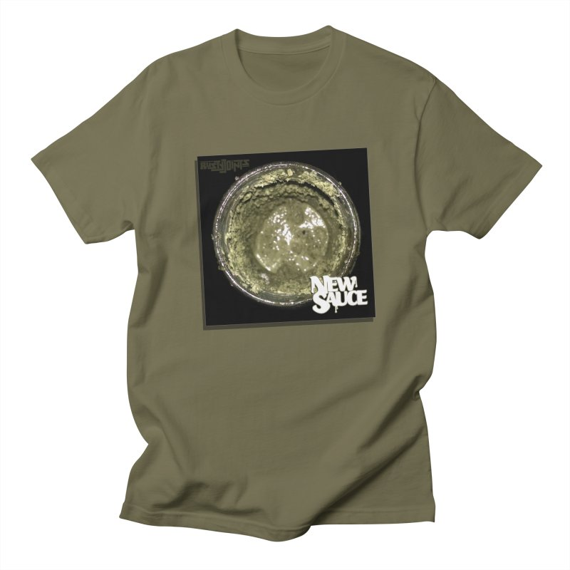 New Sauce Album Art in Men's Regular T-Shirt Olive by Red Rust Rum - Shop
