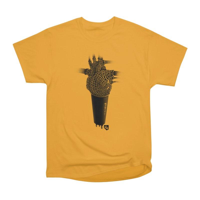 CRZN Dynamic Microphone (Heart Mic) Men's Heavyweight T-Shirt by Red Rust Rum - Shop