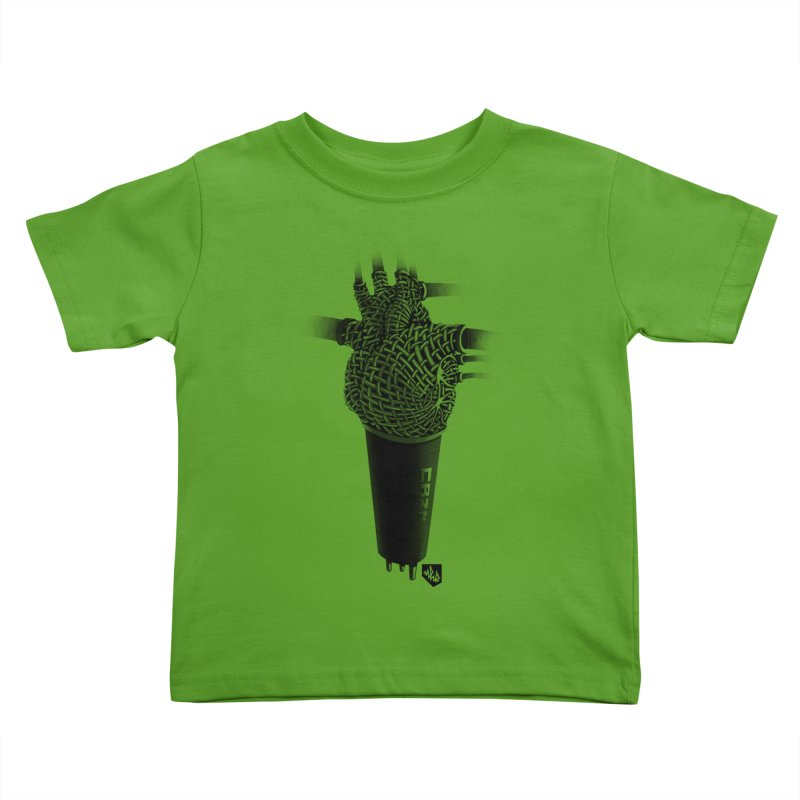 CRZN Dynamic Microphone (Heart Mic) Kids Toddler T-Shirt by Red Rust Rum - Shop