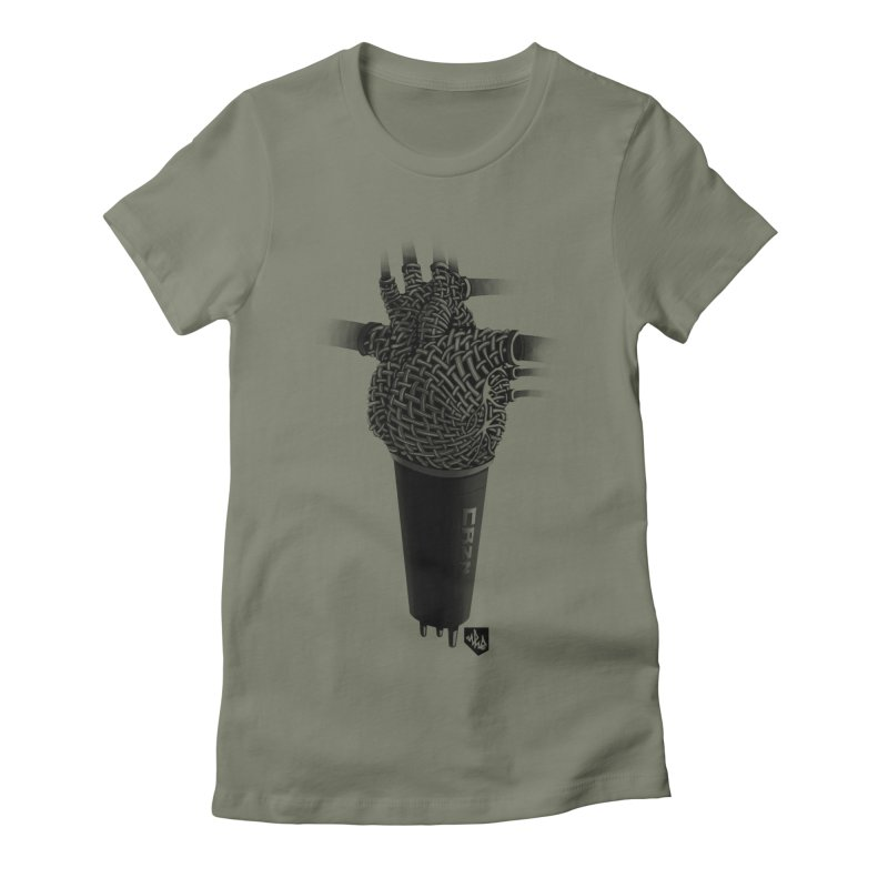 CRZN Dynamic Microphone (Heart Mic) Women's T-Shirt by Red Rust Rum - Shop