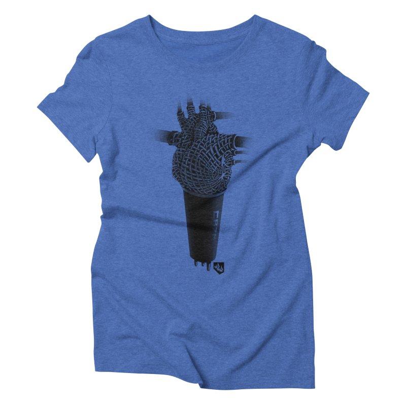 CRZN Dynamic Microphone (Heart Mic) Women's Triblend T-Shirt by Red Rust Rum - Shop