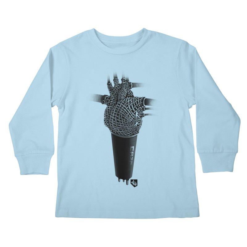 CRZN Dynamic Microphone (Heart Mic) Kids Longsleeve T-Shirt by Red Rust Rum - Shop