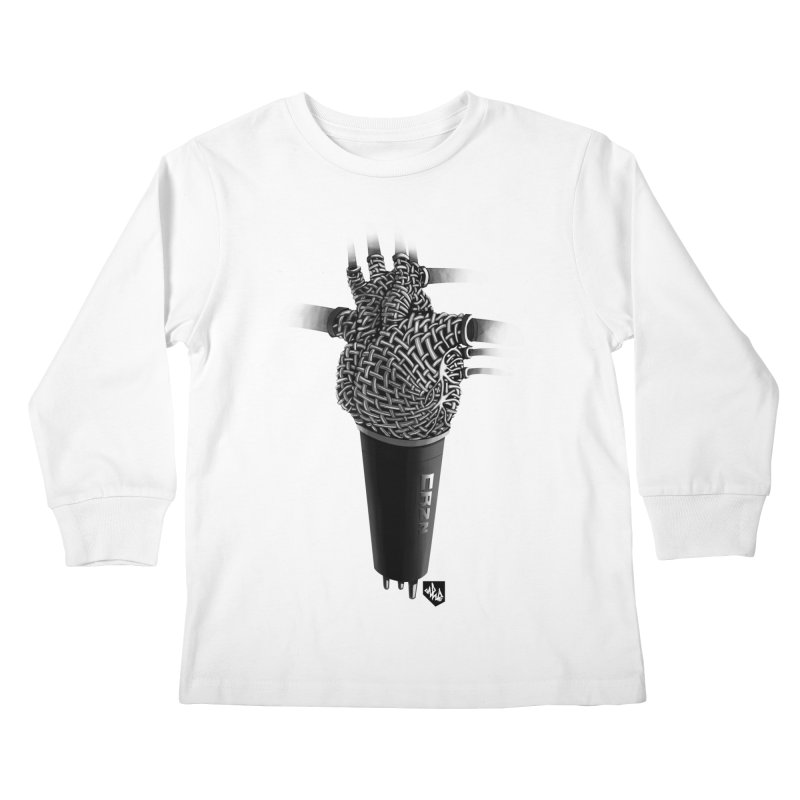 CRZN Dynamic Microphone (Heart Mic) Kids Longsleeve T-Shirt by Red Rust Rum - Shop