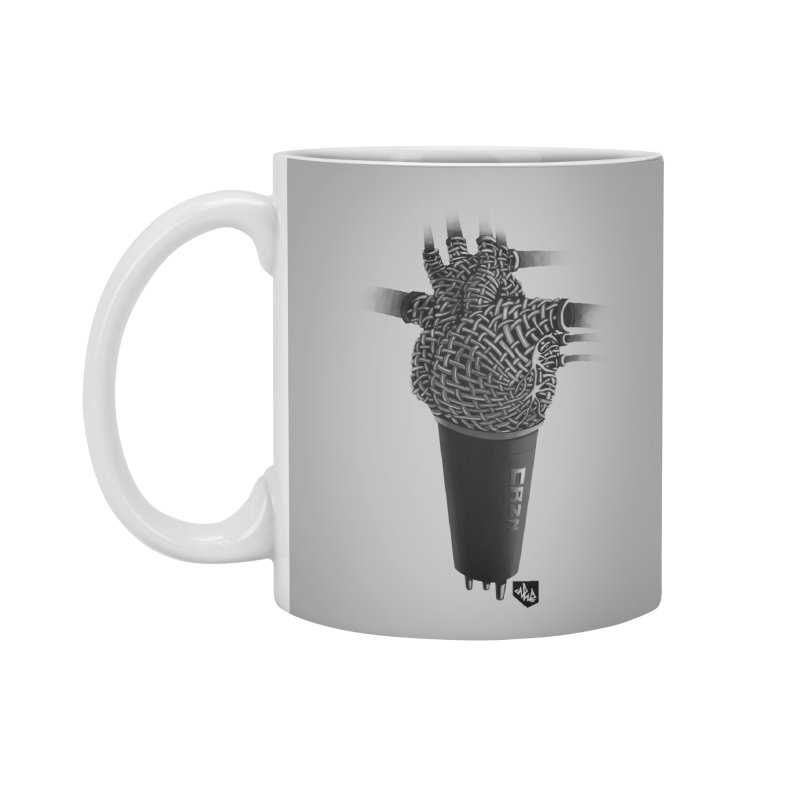 CRZN Dynamic Microphone (Heart Mic) Accessories Mug by Red Rust Rum - Shop