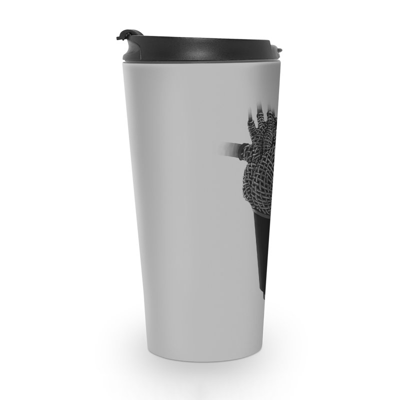 CRZN Dynamic Microphone (Heart Mic) Accessories Travel Mug by Red Rust Rum - Shop