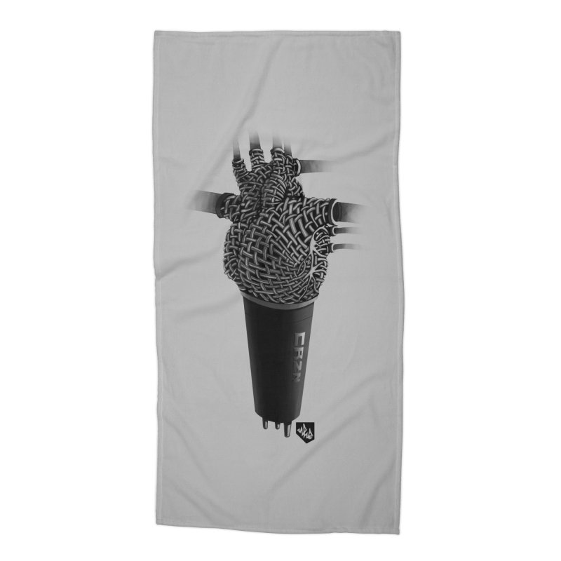 CRZN Dynamic Microphone (Heart Mic) Accessories Beach Towel by Red Rust Rum - Shop