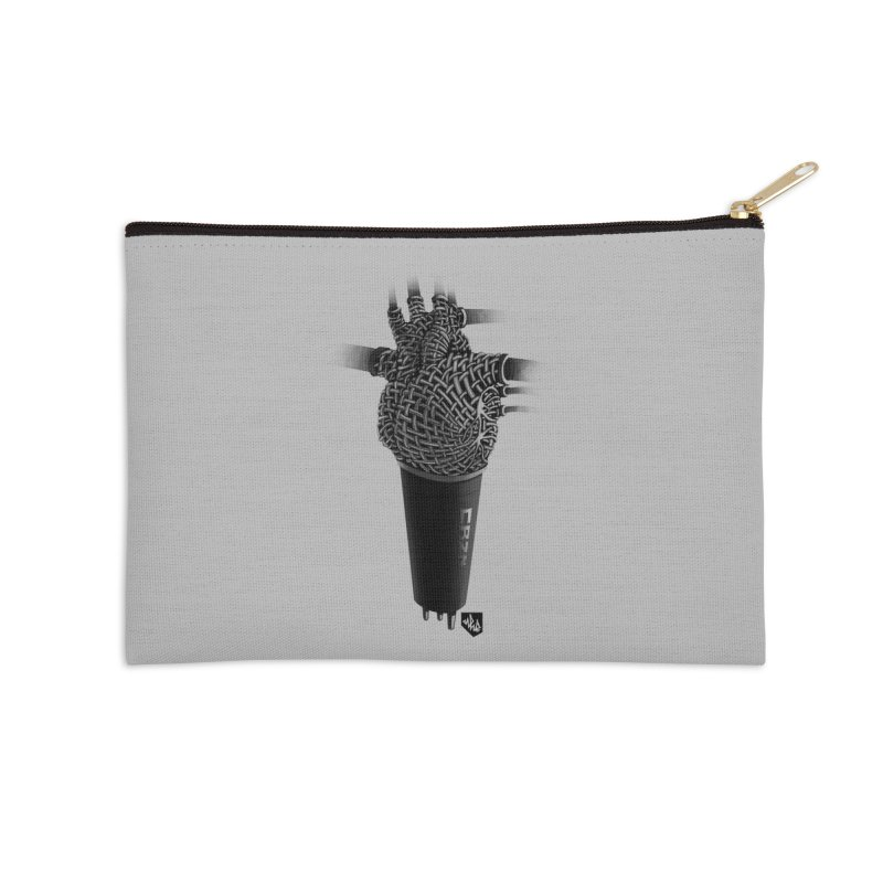 CRZN Dynamic Microphone (Heart Mic) Accessories Zip Pouch by Red Rust Rum - Shop