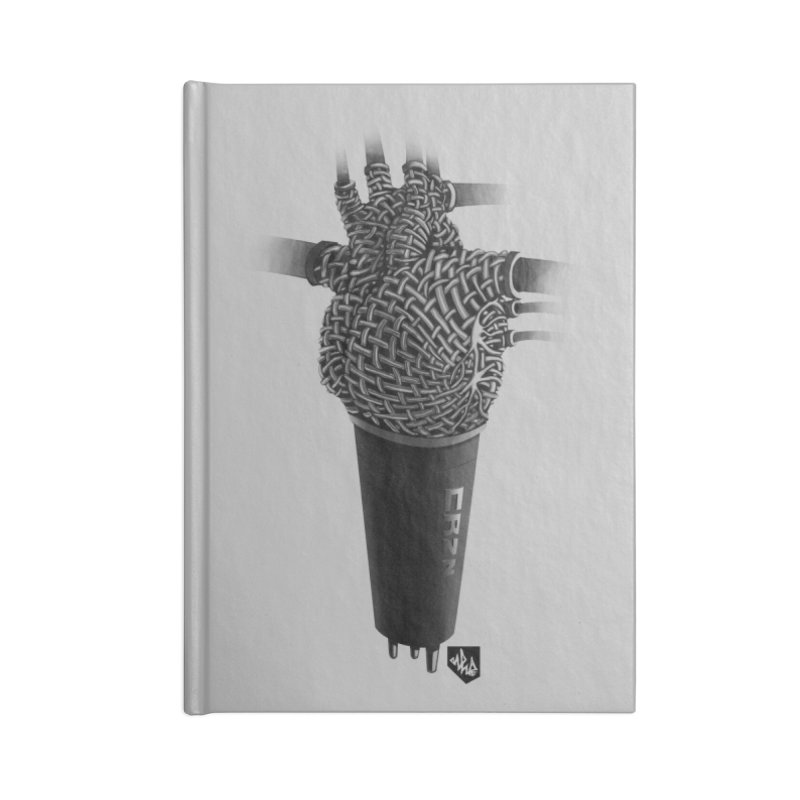 CRZN Dynamic Microphone (Heart Mic) Accessories Lined Journal Notebook by Red Rust Rum - Shop