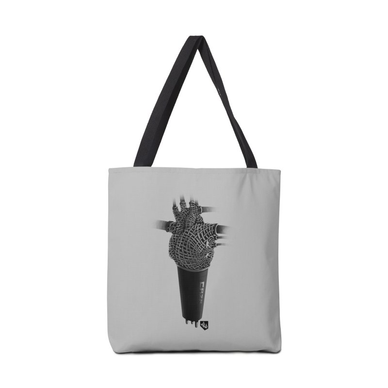CRZN Dynamic Microphone (Heart Mic) Accessories Tote Bag Bag by Red Rust Rum - Shop