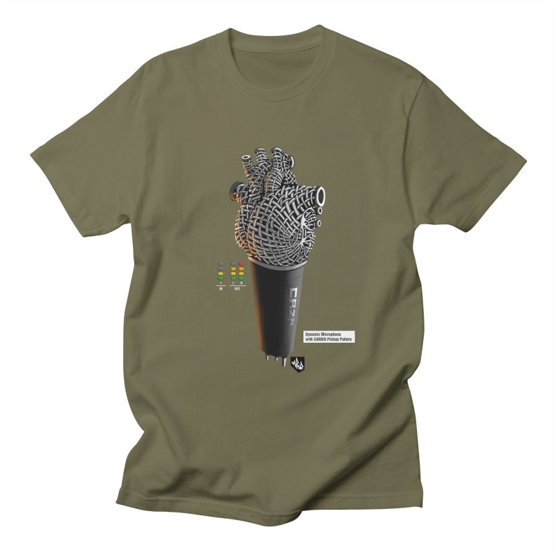 CRZN Dynamic Microphone (Heart Mic) [Color] Men's T-Shirt by Red Rust Rum - Shop