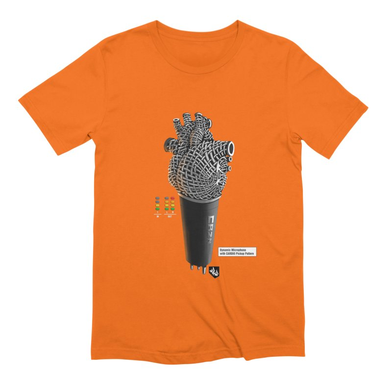 CRZN Dynamic Microphone (Heart Mic) [Color] Men's Extra Soft T-Shirt by Red Rust Rum - Shop