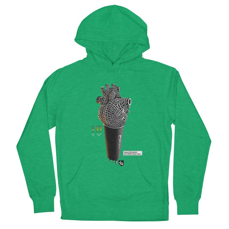 CRZN Dynamic Microphone (Heart Mic) [Color] Men's French Terry Pullover Hoody by Red Rust Rum - Shop
