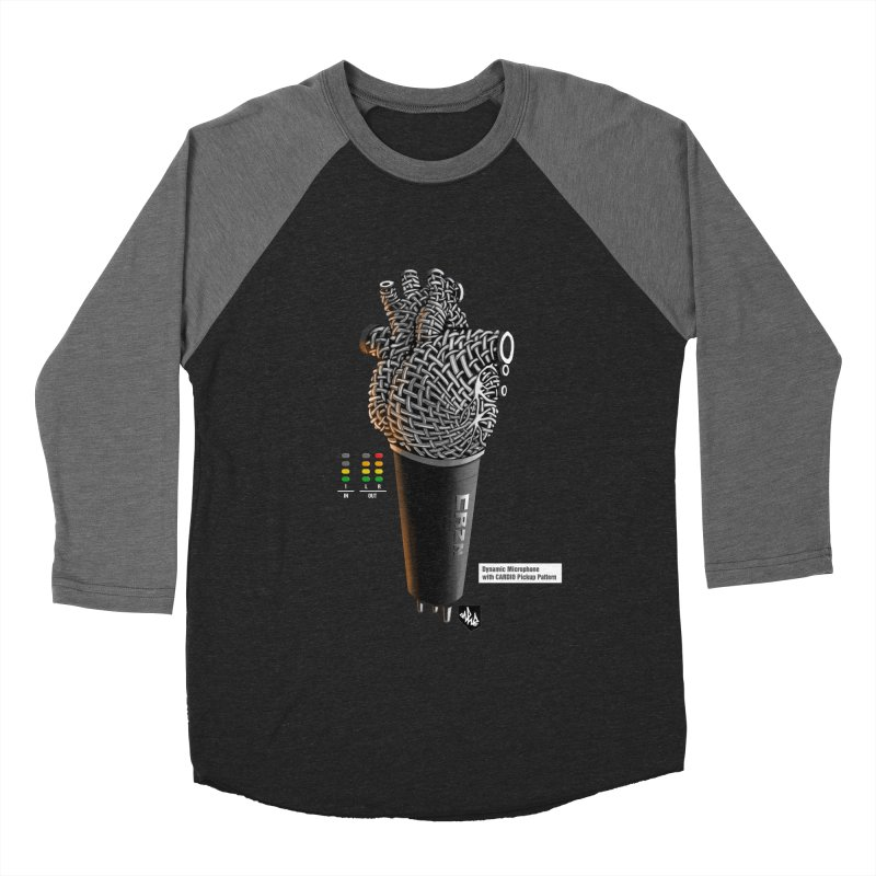 CRZN Dynamic Microphone (Heart Mic) [Color] Women's Baseball Triblend Longsleeve T-Shirt by Red Rust Rum - Shop