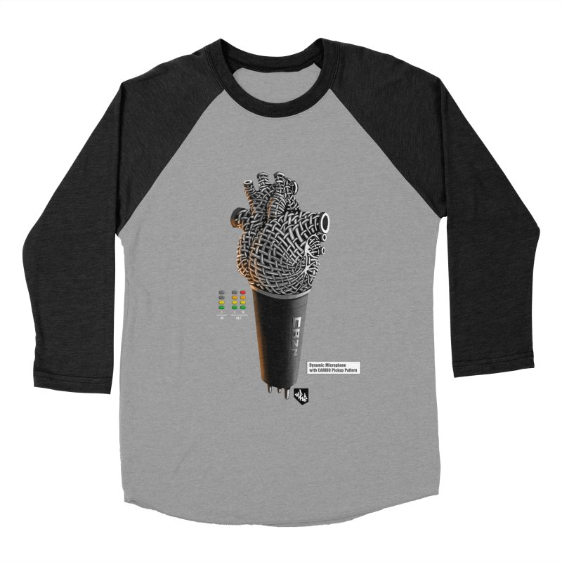 CRZN Dynamic Microphone (Heart Mic) [Color] Women's Baseball Triblend Longsleeve T-Shirt by Red Rust Rum - Shop