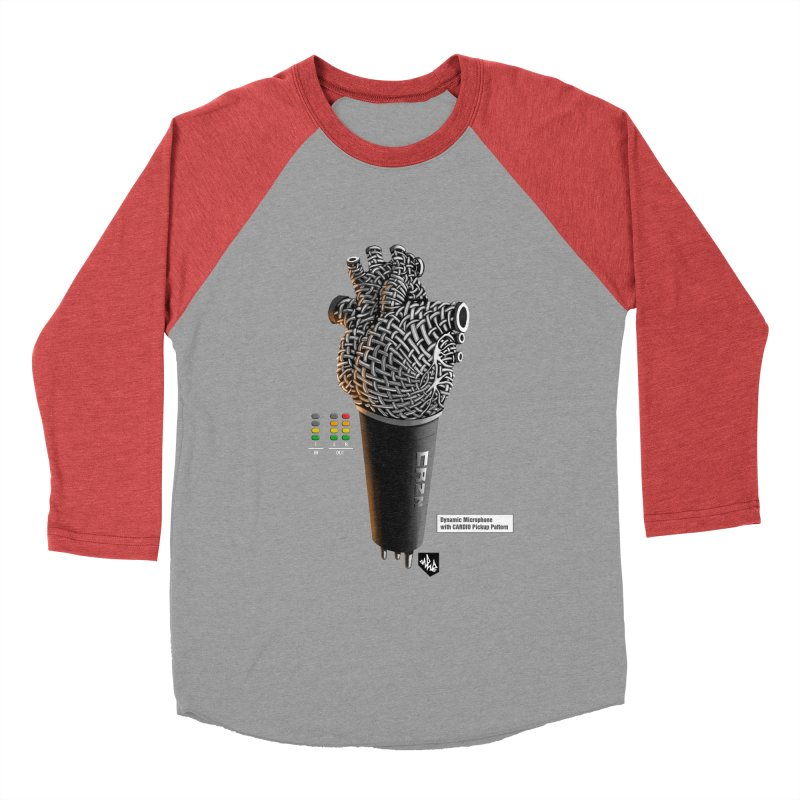 CRZN Dynamic Microphone (Heart Mic) [Color] Men's Baseball Triblend Longsleeve T-Shirt by Red Rust Rum - Shop