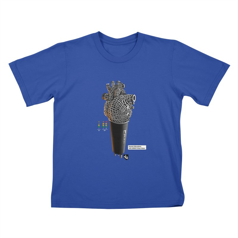 CRZN Dynamic Microphone (Heart Mic) [Color] Kids T-Shirt by Red Rust Rum - Shop