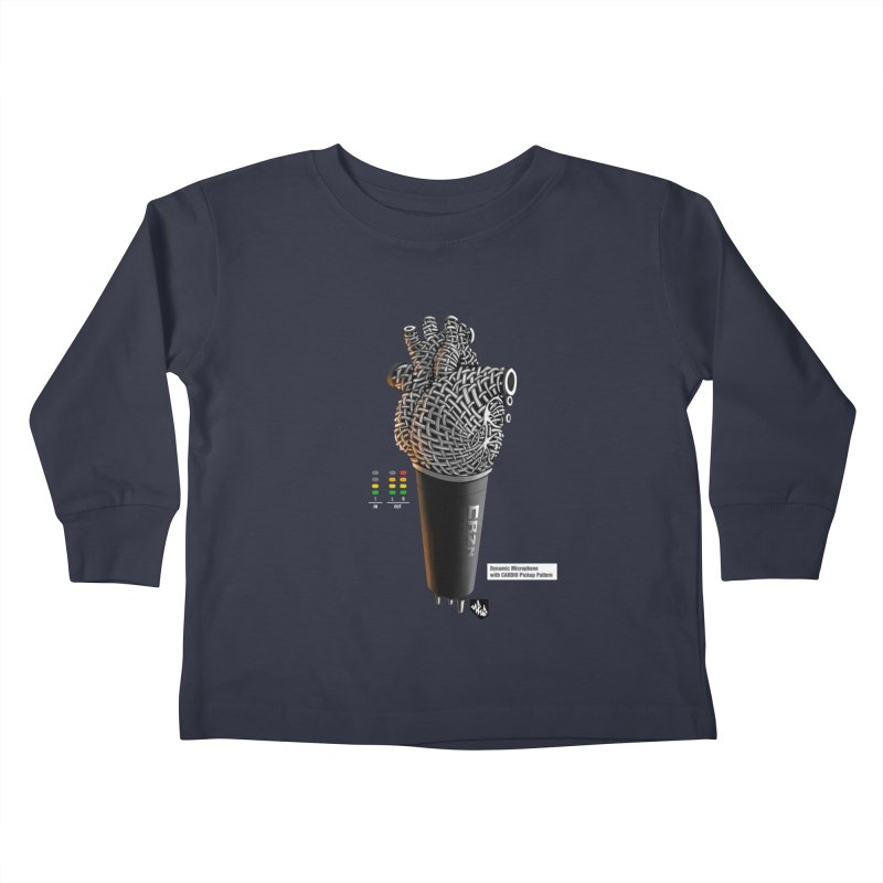 CRZN Dynamic Microphone (Heart Mic) [Color] Kids Toddler Longsleeve T-Shirt by Red Rust Rum - Shop