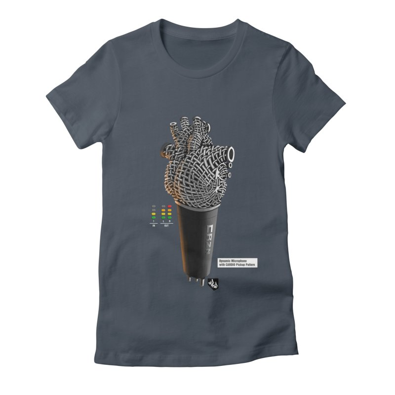 CRZN Dynamic Microphone (Heart Mic) [Color] Women's Fitted T-Shirt by Red Rust Rum - Shop