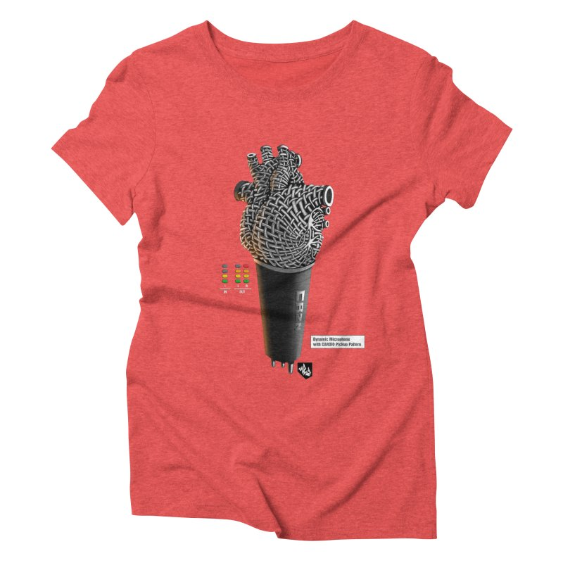 CRZN Dynamic Microphone (Heart Mic) [Color] Women's Triblend T-Shirt by Red Rust Rum - Shop