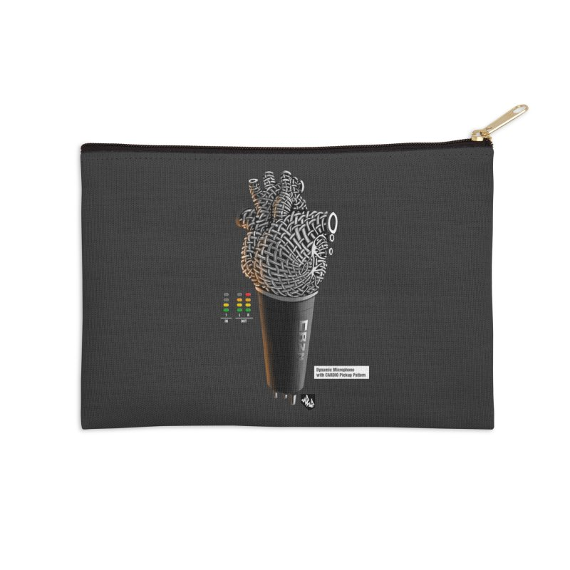 CRZN Dynamic Microphone (Heart Mic) [Color] Accessories Zip Pouch by Red Rust Rum - Shop