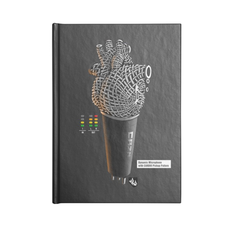 CRZN Dynamic Microphone (Heart Mic) [Color] Accessories Lined Journal Notebook by Red Rust Rum - Shop