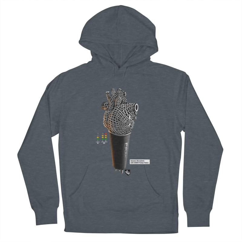 CRZN Dynamic Microphone (Heart Mic) [Color] Women's Pullover Hoody by Red Rust Rum - Shop