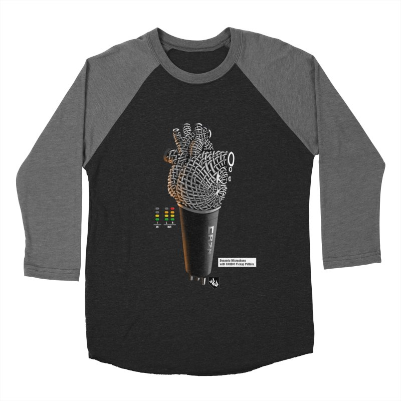 CRZN Dynamic Microphone (Heart Mic) [Color] Women's Baseball Triblend T-Shirt by Red Rust Rum - Shop