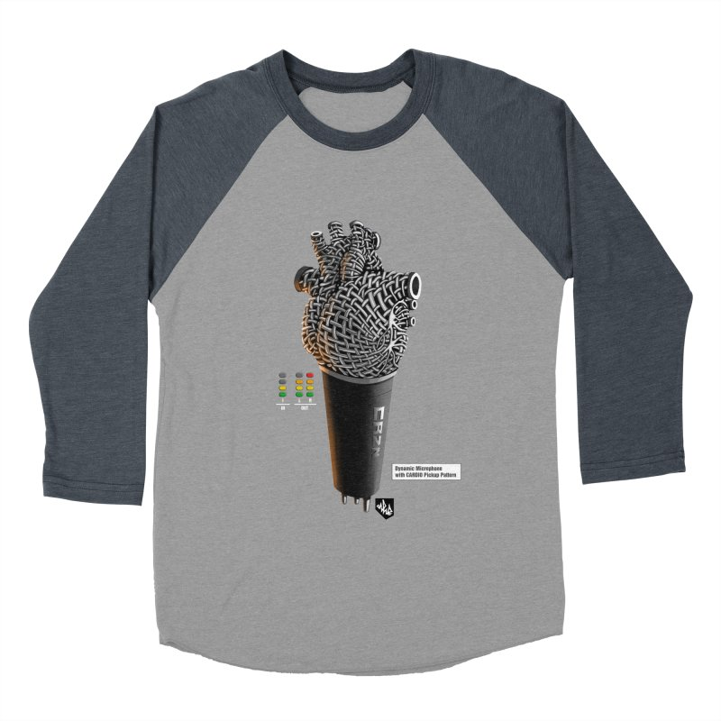 CRZN Dynamic Microphone (Heart Mic) [Color] Men's Baseball Triblend Longsleeve T-Shirt by Red Rust Rum - Shop