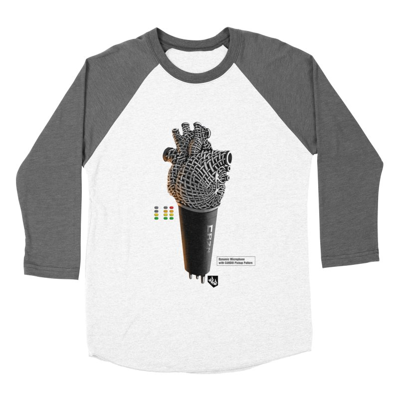 CRZN Dynamic Microphone (Heart Mic) [Color] Men's Baseball Triblend T-Shirt by Red Rust Rum - Shop