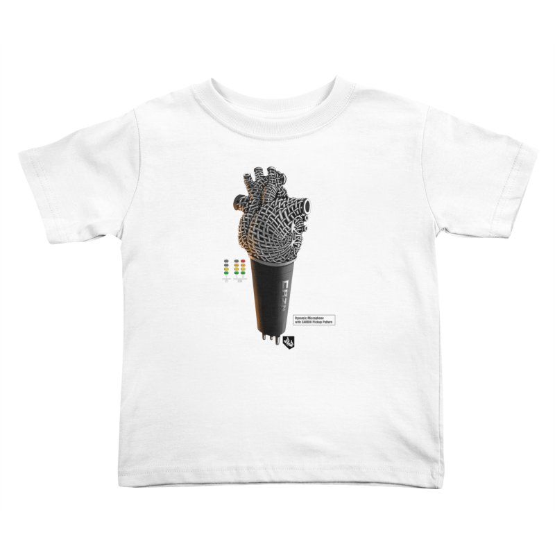 CRZN Dynamic Microphone (Heart Mic) [Color] Kids Toddler T-Shirt by Red Rust Rum - Shop
