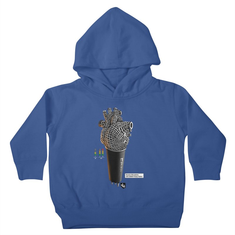 CRZN Dynamic Microphone (Heart Mic) [Color] Kids Toddler Pullover Hoody by Red Rust Rum - Shop