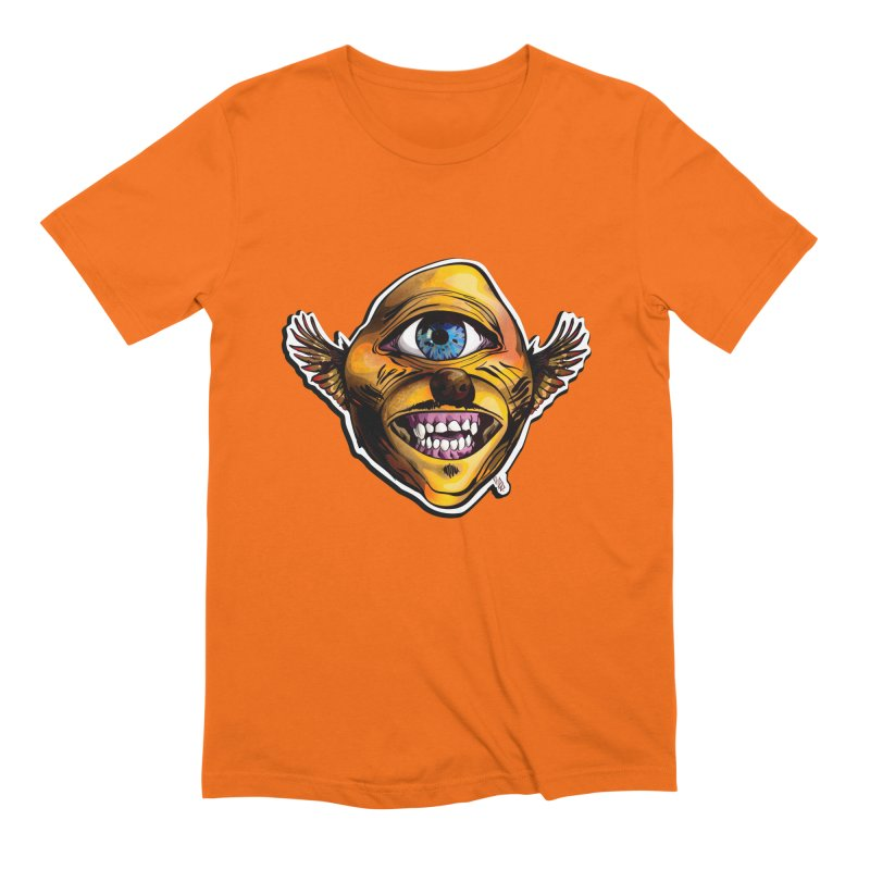 Cycloptic Dog Eagle with a Stache Men's Extra Soft T-Shirt by Red Rust Rum - Shop