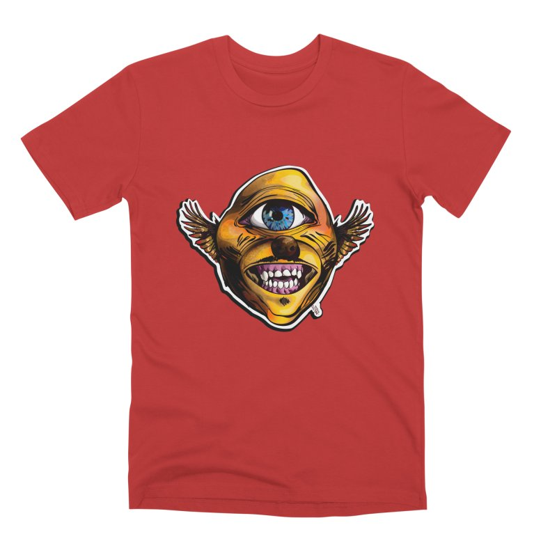 Cycloptic Dog Eagle with a Stache Men's Premium T-Shirt by Red Rust Rum - Shop