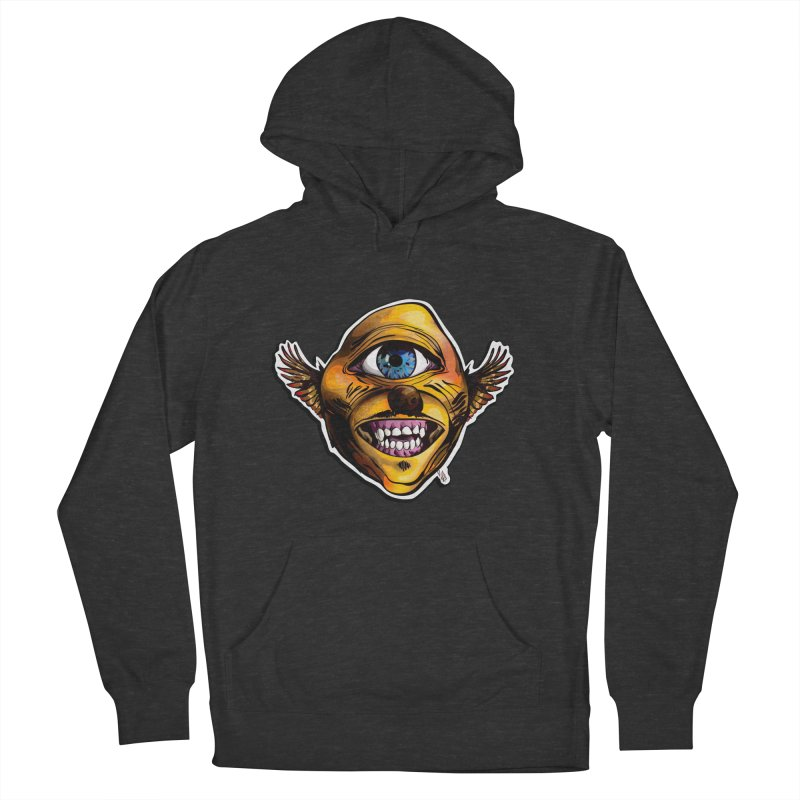 Cycloptic Dog Eagle with a Stache Men's French Terry Pullover Hoody by Red Rust Rum - Shop