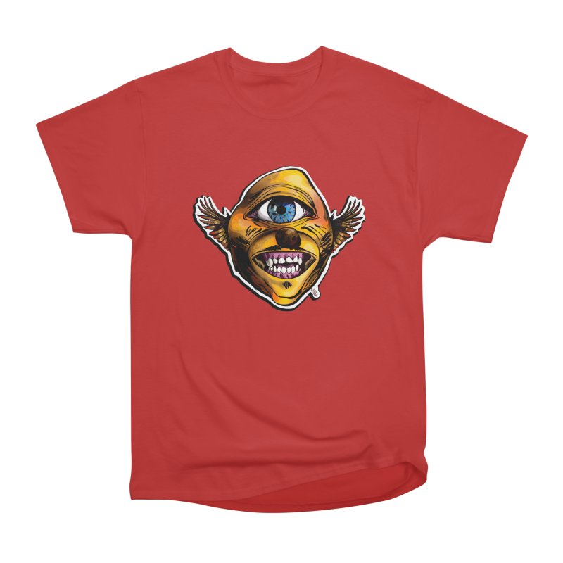 Cycloptic Dog Eagle with a Stache Men's Heavyweight T-Shirt by Red Rust Rum - Shop