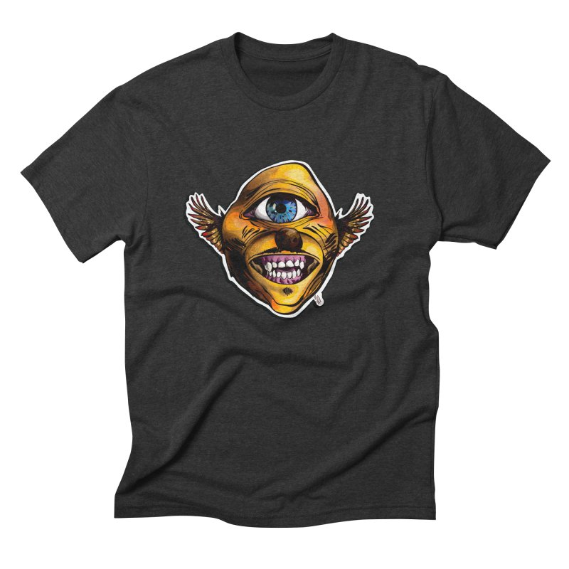 Cycloptic Dog Eagle with a Stache Men's Triblend T-Shirt by Red Rust Rum - Shop