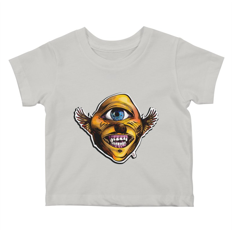 Cycloptic Dog Eagle with a Stache Kids Baby T-Shirt by Red Rust Rum - Shop