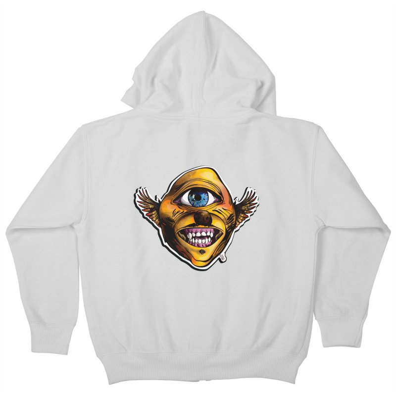 Cycloptic Dog Eagle with a Stache Kids Zip-Up Hoody by Red Rust Rum - Shop
