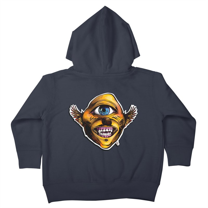 Cycloptic Dog Eagle with a Stache Kids Toddler Zip-Up Hoody by Red Rust Rum - Shop
