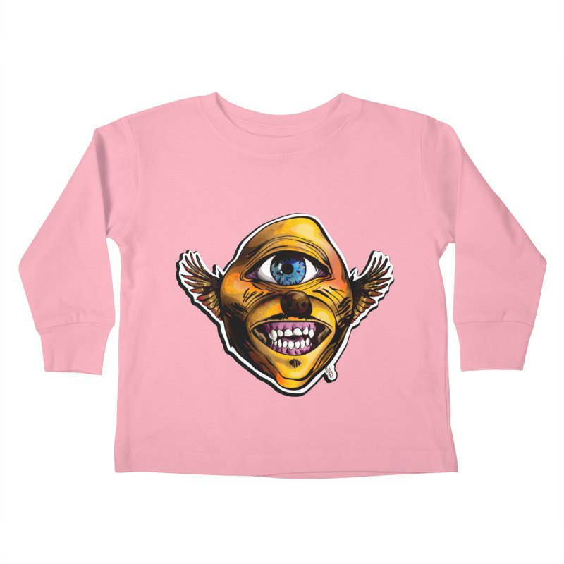 Cycloptic Dog Eagle with a Stache Kids Toddler Longsleeve T-Shirt by Red Rust Rum - Shop
