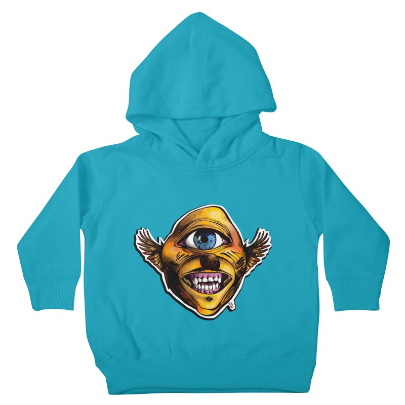 Cycloptic Dog Eagle with a Stache Kids Toddler Pullover Hoody by Red Rust Rum - Shop