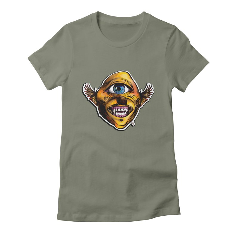 Cycloptic Dog Eagle with a Stache Women's Fitted T-Shirt by Red Rust Rum - Shop